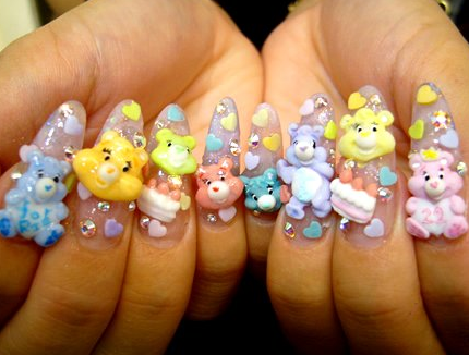 care bear nails
