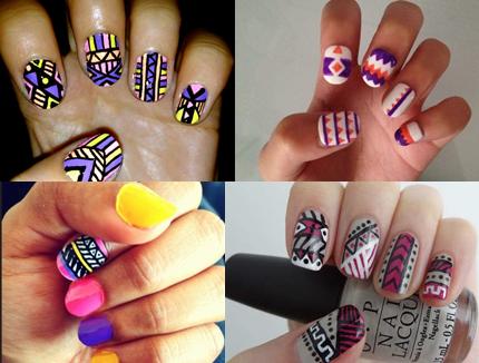 aztec pattern nail