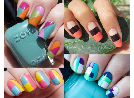 block color nails