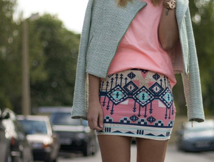 tribal print fashion street snap