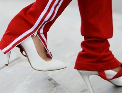 sports with stilettos