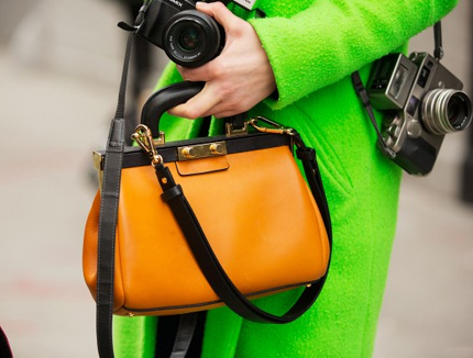 green apparel orange bag