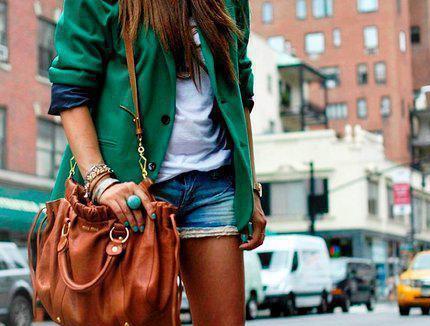 green ootd