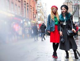 red-skirt-beret-and-black-jacket-skirt-beret-street-style