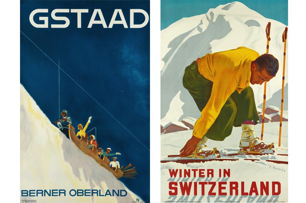 vintage skiing posters