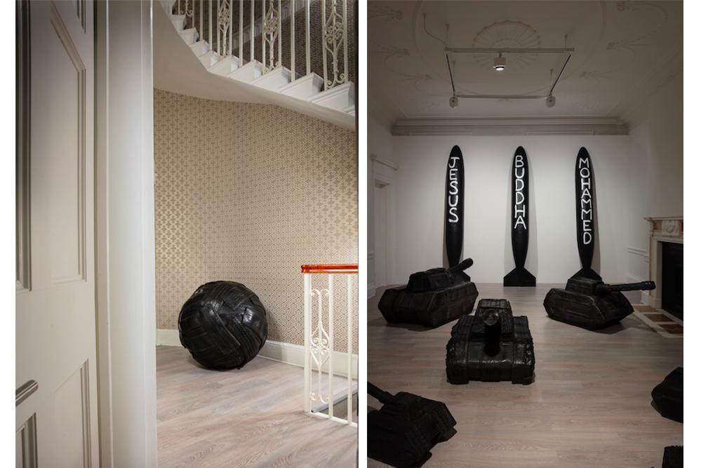 Paolo Canevari - Self-Portrait at Cardi Gallery London